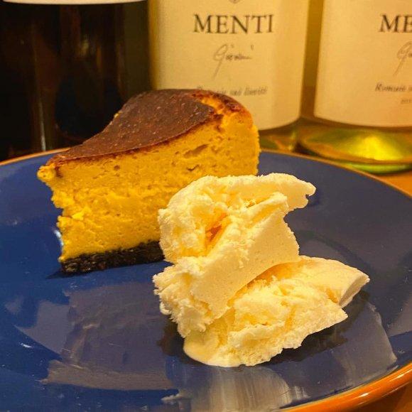 手作りかぼちゃのチーズケーキ(アイス付)