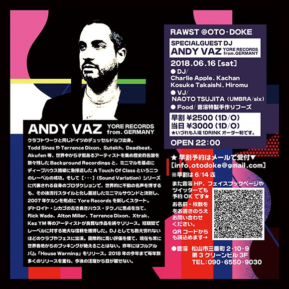 [裏面] RAWST feat. Andy Vaz (Yore, Background, Sound Variaton,A Touch Of Class from Germany)