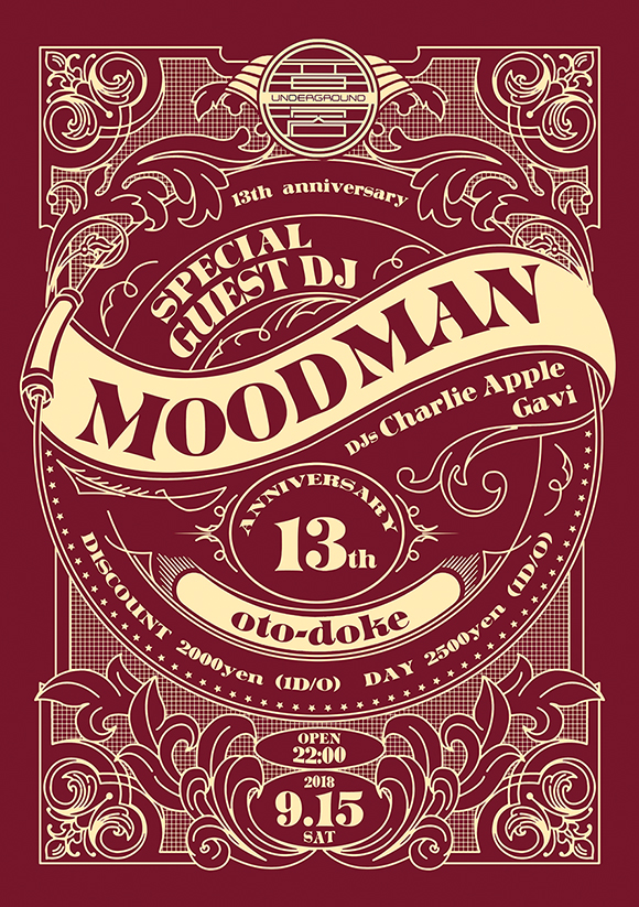 9/15(土)13th Anniversary feat. MOODMAN